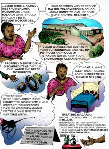 Page Eleven  Infographic: Preventing malaria, sanitation-related diseases Page11 220x300