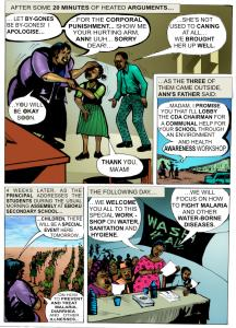 Page Nine  Infographic: Preventing malaria, sanitation-related diseases Page9 216x300