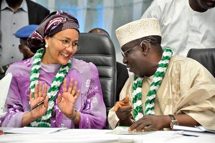 Environment Minister, Amina J. Mohammed (left) with Governor of Nasarawa State, Umaru Tanko Al-makura, during the 10th National Council on Environment (NCE10) last week in Lafia, Nasarawa State  Agriculture, Health ministries to lose departments to Environment Lafia